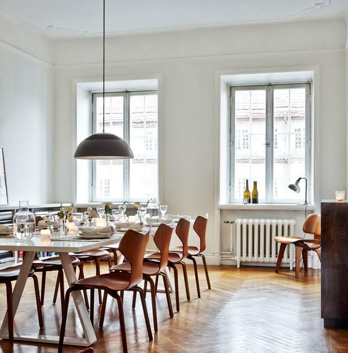 Hemma hos HM Homes designchef Kravaev-Söderberg, matsal till fest