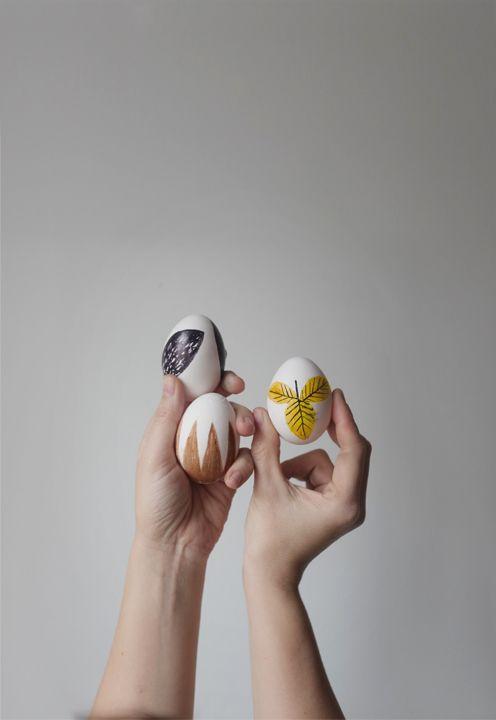 enkelt målade ägg